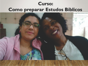 Curso como preparar estudos bíblicos - Ministerio na África - Carrosel site
